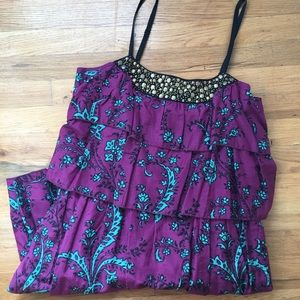Kensie Pretty Tiered Dress with Stud Detail Sz: M